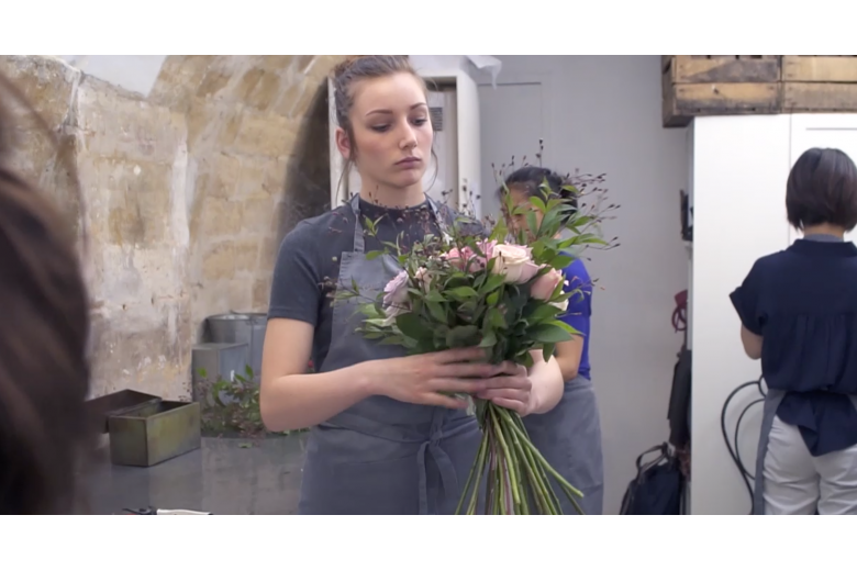 Professional training in floral art